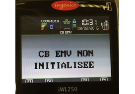 initialiser une application incident ingenico