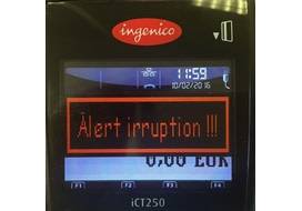 alert irruption incident ingenico